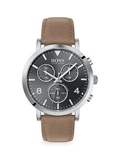 4873b9519fd2 Product image. QUICK VIEW. HUGO BOSS. Spirit Chronographic Leather-Strap  Watch