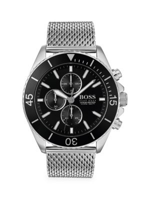 Hugo Boss Watches Ocean Edition Chronographic Stainless Steel Watch