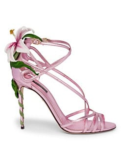 869c800688ac QUICK VIEW. Dolce   Gabbana. Strappy Lily Leather Sandals