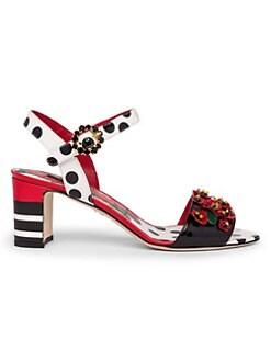 1b2c7e10d QUICK VIEW. Dolce   Gabbana. Floral Appliqué Leather Sandals