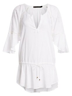 9e16cfb050 QUICK VIEW. ViX by Paula Hermanny. White Embroidered Tunic
