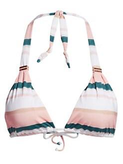 0a108185dc3 Product image. QUICK VIEW. ViX by Paula Hermanny. Chimera Striped Triangle  Halter Bikini Top