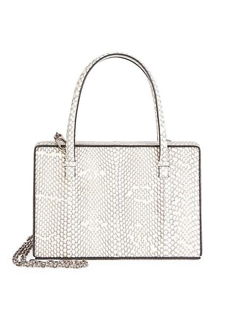 Python Top Handle Box Bag