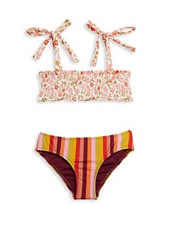 a46c658de3 Little Girl's & Girl's Two-Piece Print Bandeau Bikini MULTI. QUICK VIEW.  Product image