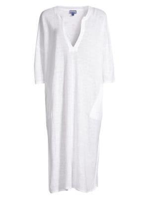 7570339e8 Vilebrequin Farlini Linen Caftan In White   ModeSens