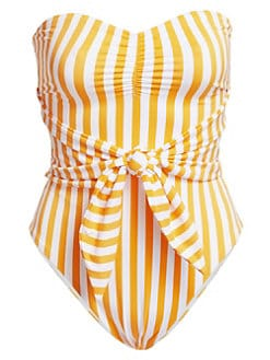 be3ce46a8e QUICK VIEW. Onia. Onia X WeWoreWhat Capri Striped One-Piece Swimsuit