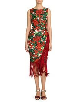 51a4f77cfba Dolce   Gabbana. Sleeveless Wrapped Fringe Dress
