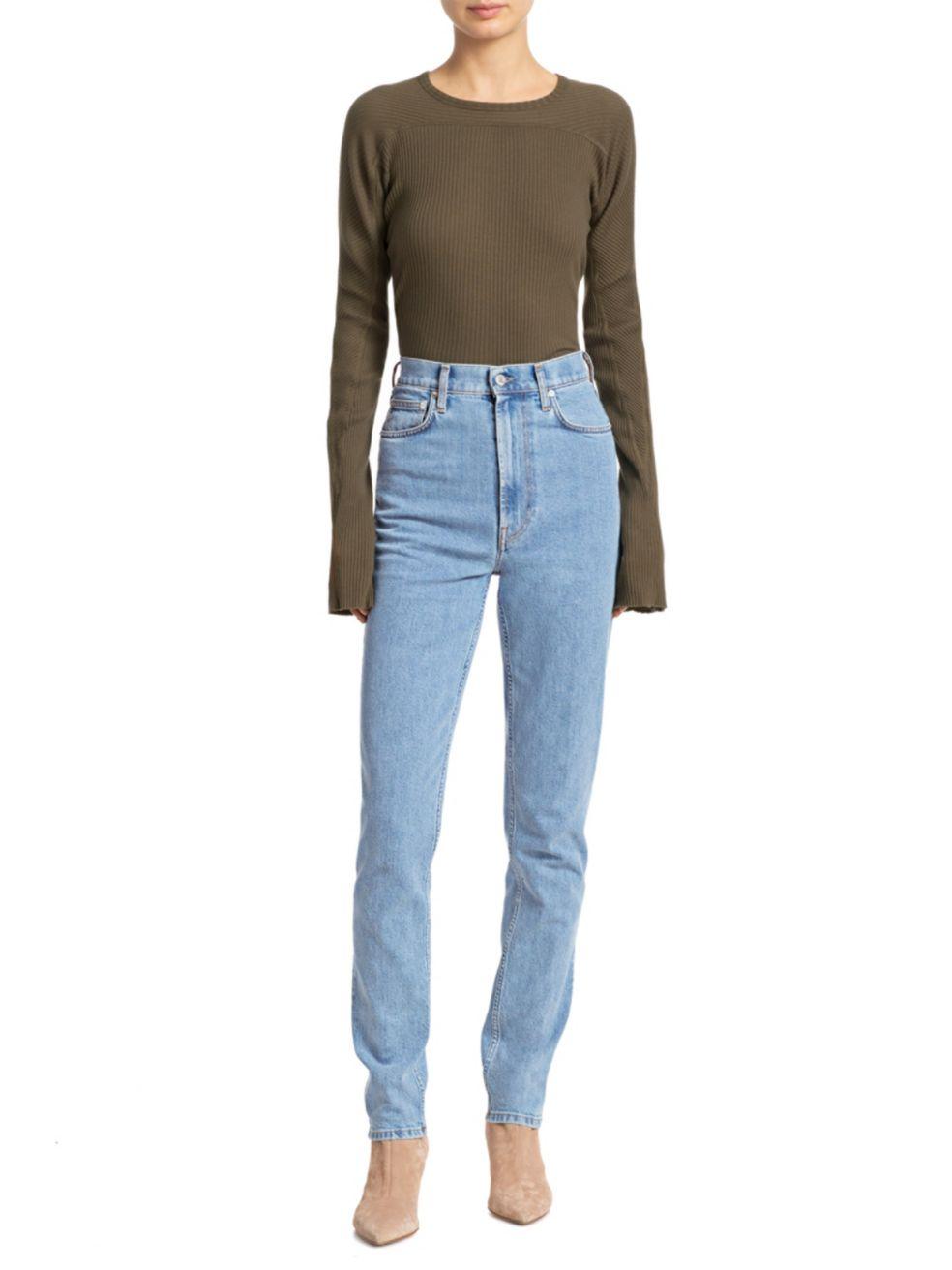 Helmut Lang Femme High-Rise Spikes Jeans   SaksFifthAvenue