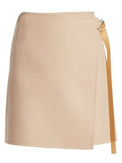a5173d4655a1 Product image. QUICK VIEW. Helmut Lang. Double-Face Wool   Cashmere Wrap  Skirt