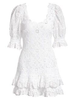 2a51363e46 QUICK VIEW. Jonathan Simkhai. Crochet Lace Puff-Sleeve Dress