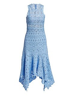 ee68459a5f08 Floral Crochet Cotton Midi Dress SKY BLUE. QUICK VIEW. Product image