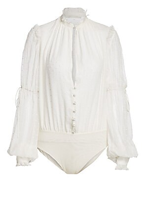 Embroidered Silk Chiffon Bodysuit by Jonathan Simkhai
