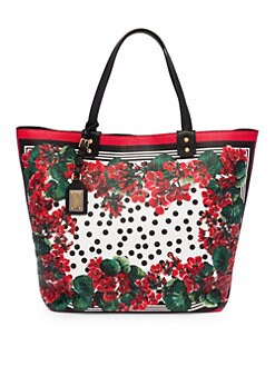24db0ccccb6d QUICK VIEW. Dolce   Gabbana. Portofino Floral Leather Shopping Tote