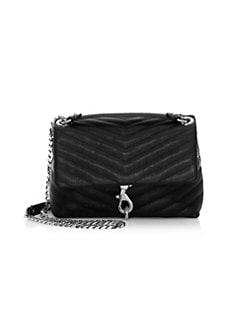 0635af35efb2 Rebecca Minkoff. Edie Quilted Leather Crossbody Bag