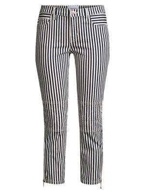 Current Elliott Jeans The Cropped Lexton Stripe Jeans