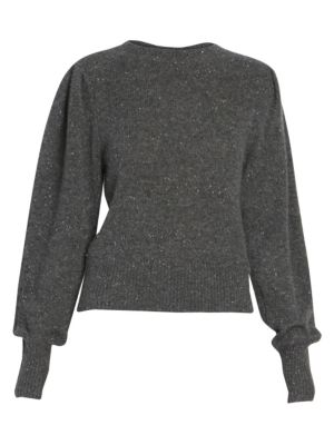 Isabel Marant Colroy Puff Sleeve Cashmere Sweater