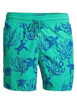 95b4c796d8 QUICK VIEW. Vilebrequin. Coral Turtles Print Swim Shorts