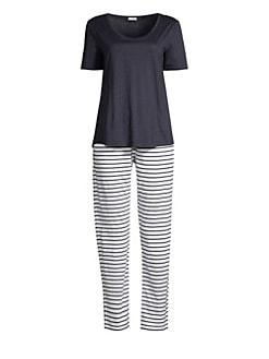 d3207c8b94 Hanro. Laura Two-Piece Striped Pajama Set