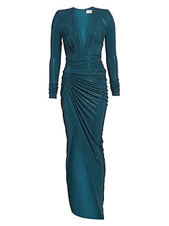f15f821c Alexandre Vauthier. Microcrystal Ruched Gown