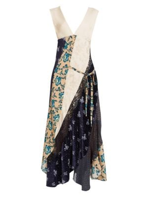Camilla - Mother Floral Silk Button-Front Handkerchief Maxi