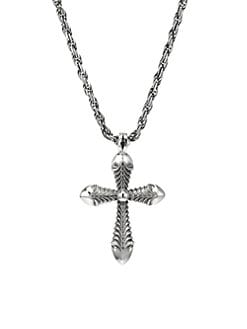 0ce8459cd Product image. QUICK VIEW. Emanuele Bicocchi. Permanent Sterling Silver  Cross Pendant Necklace