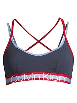 b5bf599802b Product image. QUICK VIEW. Calvin Klein. Retro Unlined Strappy Bralette