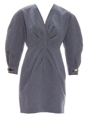 Sandro Kassy Mutton Sleeve Striped Dress