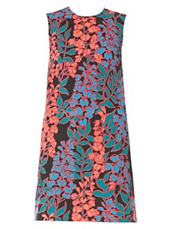 7ef59b6ae0fb Sleeveless Floral Shift Dress BLACK MULTI. QUICK VIEW. Product image