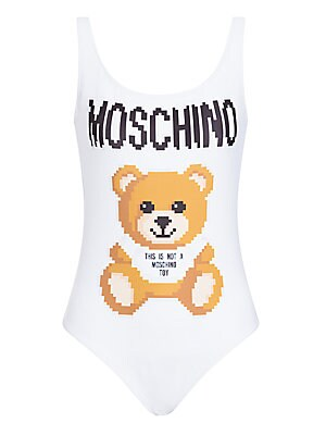 Moschino X Sims Pixel Capsule One Piece Teddy Bear Swimsuit by Moschino
