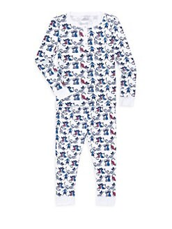 db41c2e73 Roller Rabbit. Little Girl s   Girl s Two-Piece Striped Cat Pajama Set