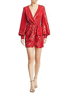 c03b3cb3 Amen. Sequin Wrap Mini Dress