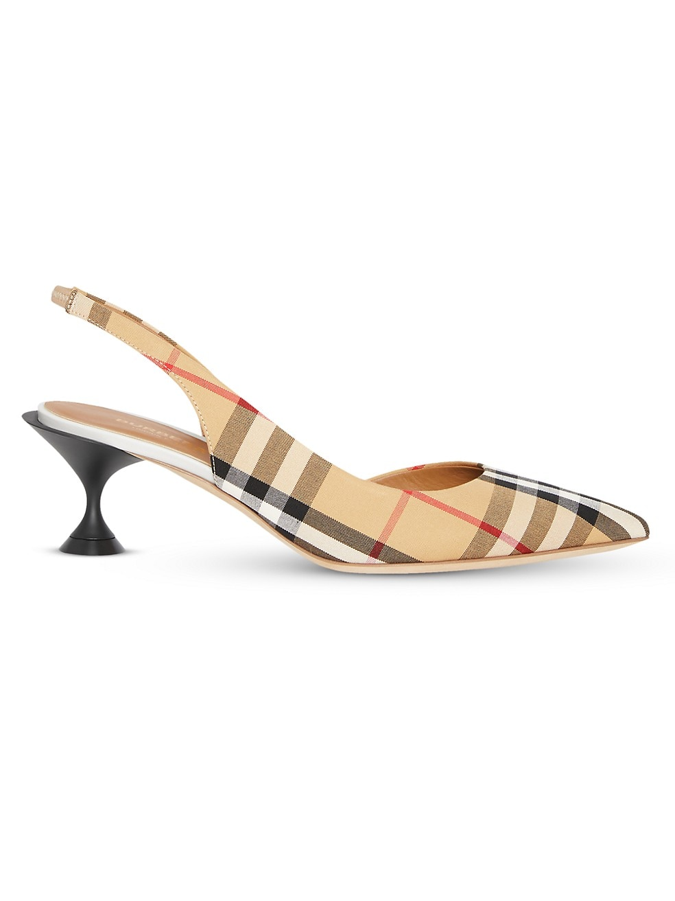 Burberry Leticia Leather Slingback Pumps