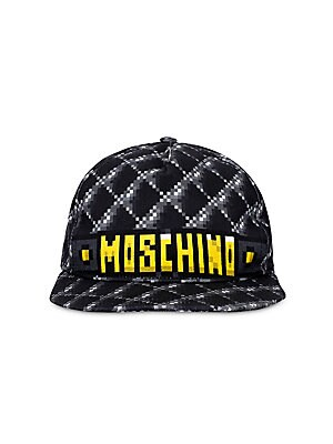 4c654a64d2884 Moschino - Moschino x Sims Pixel Capsule Logo Graphic Canvas Baseball Cap