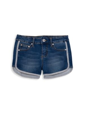 c8f061d9998 Butter - Little Girl's & Girl's Mineral-Wash Fleece Varsity Shorts ...