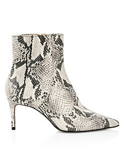 6f066a25c86 Schutz. Bette Snakeskin Print Leather Ankle Boots