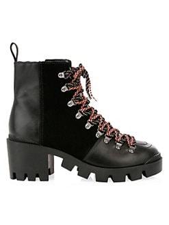 f86805a617c Schutz. Doralice Leather   Suede Combat Boots