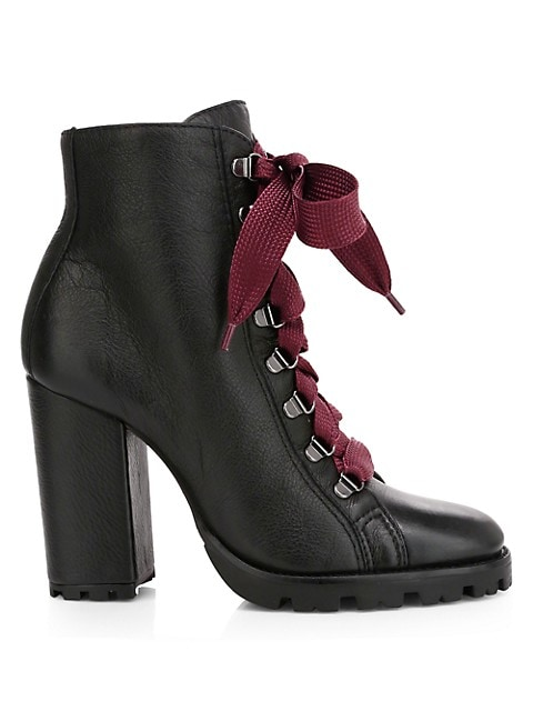 Zara Leather Combat Boots