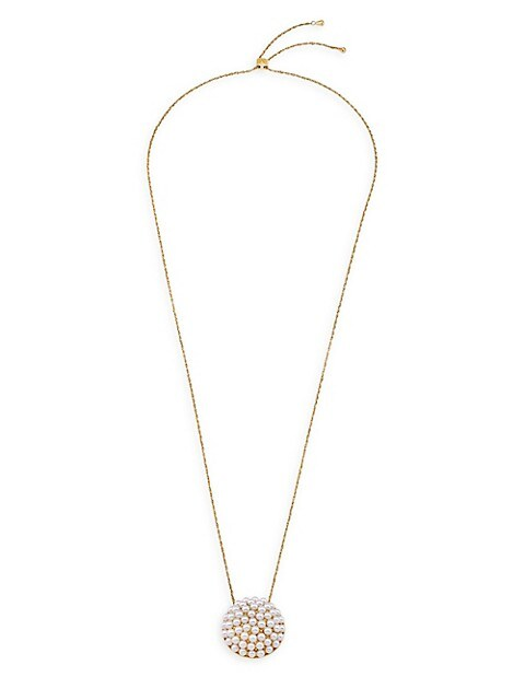 Allegra Faux-Pearl & Goldplated Steel Pendant Necklace