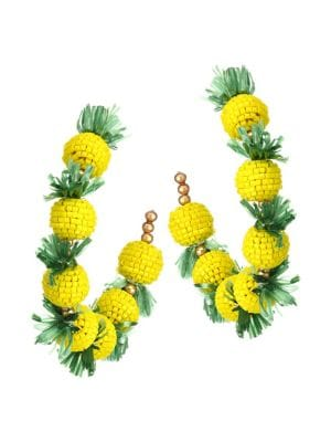 0704a61889d4b 22K Goldplated Pineapple Hoop Earrings