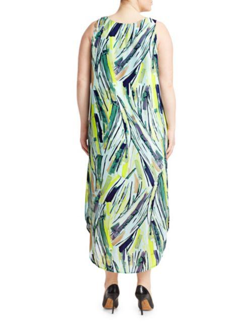NIC+ZOE, Plus Size Palm Print Midi Dress | SaksFifthAvenue