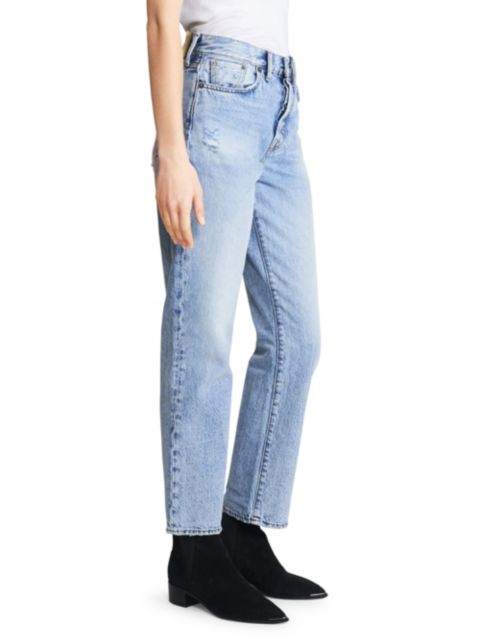 Acne Studios High-Rise Boyfriend-Fit Five-Pocket Cropped Ankle Jeans | SaksFifthAvenue