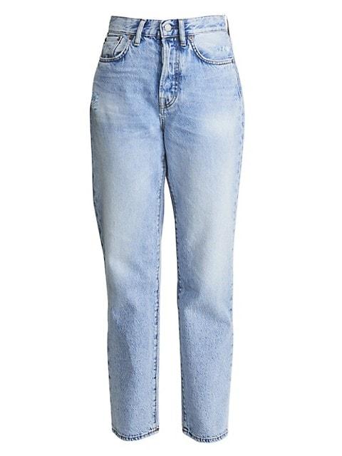 High-Rise Boyfriend-Fit Five-Pocket Cropped Ankle Jeans