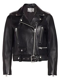 7b254dd1a Acne Studios. Leather Moto Jacket