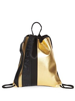 e2d9a301bbf Givenchy. MC3 Two-Tone Leather Drawstring Backpack