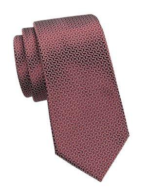 Ermenegildo Zegna Ties Canelle Print Silk Tie
