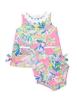 9c2c32d49 Lilly Pulitzer Kids. Baby Girl's Two-Piece Floral Shift Dress & Bloomer Set