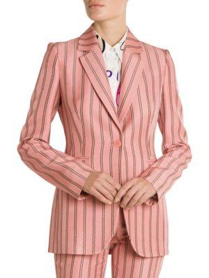 Emilio Pucci Pinstripe One Button Blazer