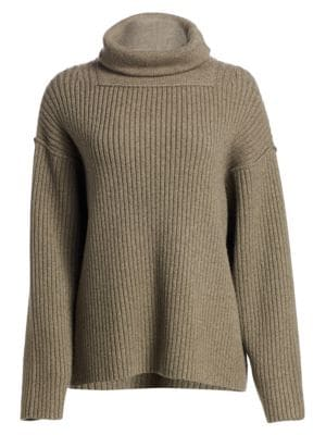 Alexander Wang Oversized Rib Knit Funnel Neck Sweater