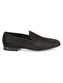 d5aa753d7b1 Saks Fifth Avenue. COLLECTION Checkered Suede Loafers