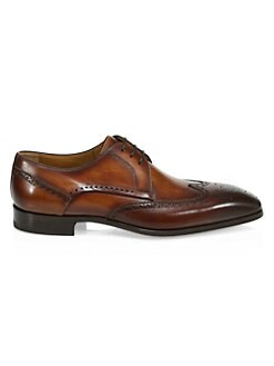 691906720e1 Saks Fifth Avenue. COLLECTION Leather Wingtip Blucher Dress Shoes